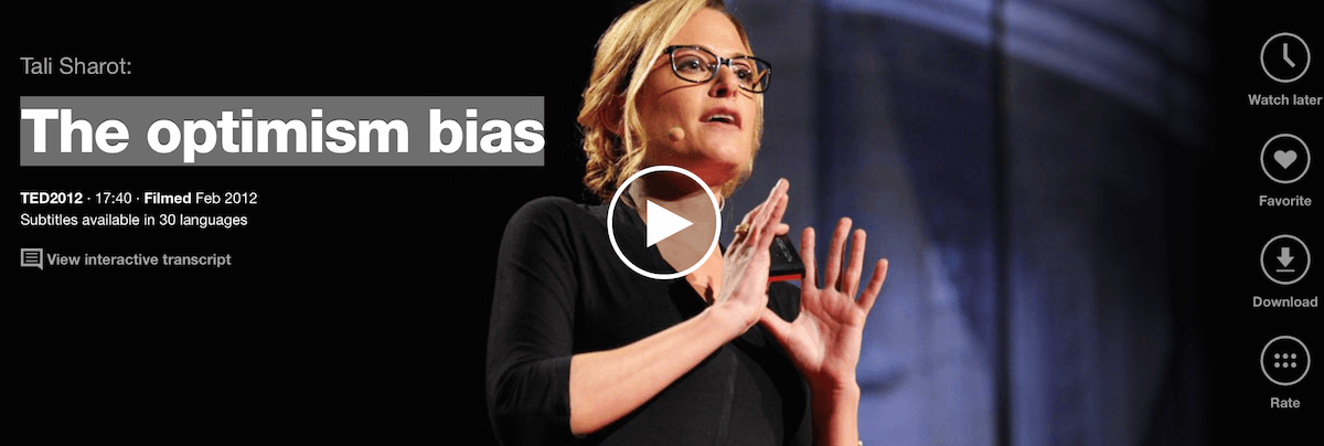The optimism bias: l'inclinazione all'ottimismo